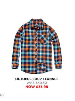 Octopus Soup Flannel - was $49.50 - now $33.99