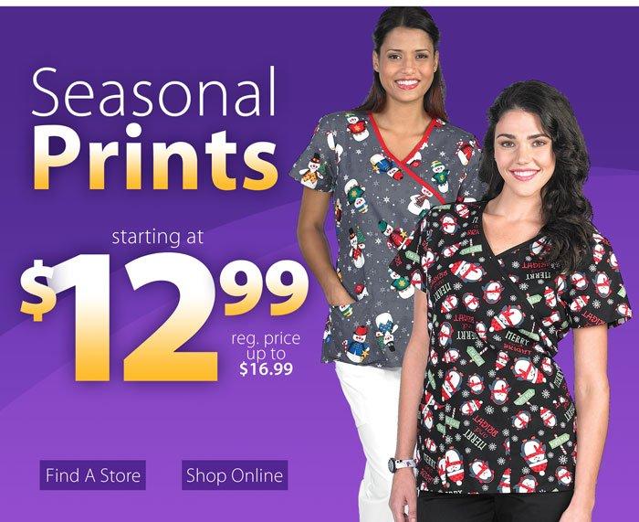 Seasonal prints starting at $12.99, shop now