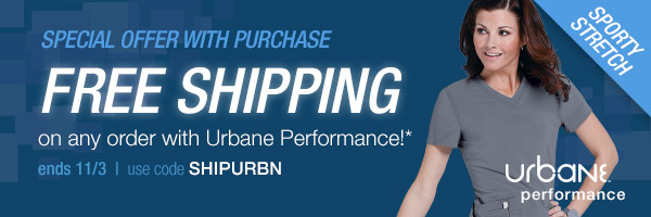 Free shipping with Urbane Performance