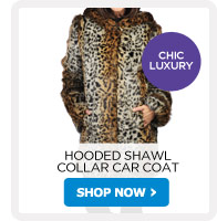 Hooded Shawl Collar Car Coat - Shop Now!