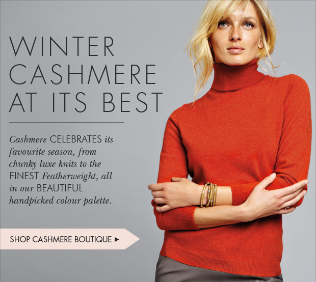 Download Images:  Shop Winter Cashmere with 25% off plus free shipping and returns