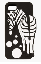 MARC BY MARC JACOBS Black Silicone Raised Animals Zebra iPhone 5 Case for women