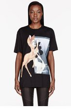 GIVENCHY Black Baby Deer print t-shirt for women