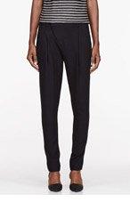HELMUT LANG Black Noa Suiting Pleat Front Trousers for women