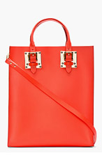 SOPHIE HULME Bright Red Leather Buckled Tote for women