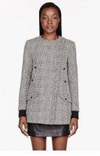 RAG & BONE Black and beige zig zag Harlow Coat for women