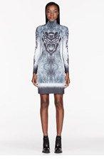 ANNE SOFIE MADSEN Grey & black Signature Print stretch dress for women