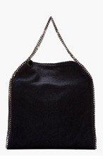 STELLA MCCARTNEY Black Tweed Classic Fallabella Tote for women