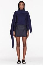 J.W.ANDERSON Navy Asymmetrical Layered sweater for women