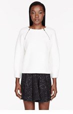 MARC BY MARC JACOBS Ivory Quilted Cleo Sweatshirt for women