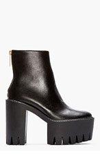 STELLA MCCARTNEY Black Platform Ankle Boots for women