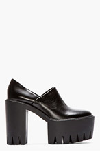 STELLA MCCARTNEY Black Platform Loafers for women