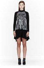 ANNE SOFIE MADSEN Black & Grey knit Hairy Creature Volante Dress for women