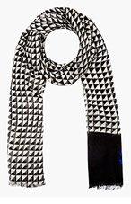 PROENZA SCHOULER black & white Triangle Print Scarf for women