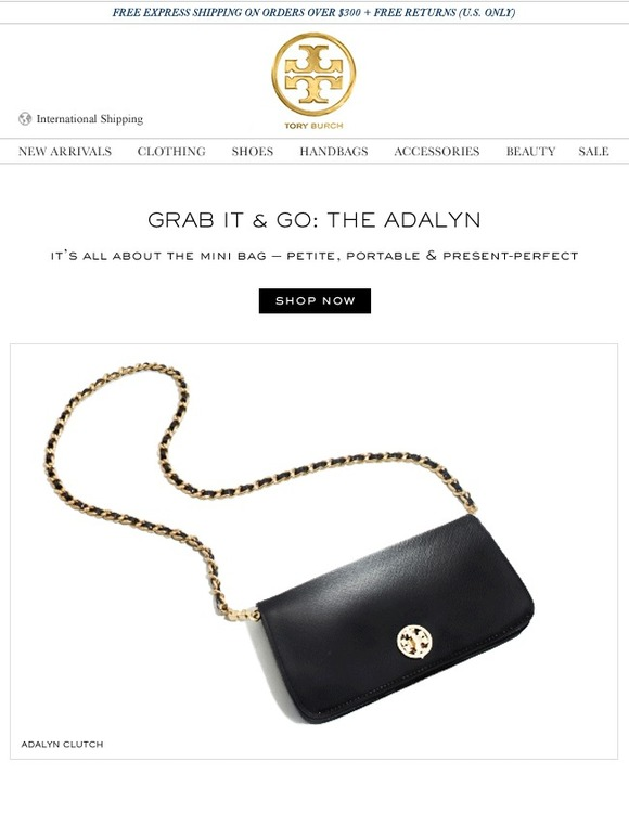 Tory burch grab it go the adalyn clutch milled for 11 west 19th street 7th floor new york ny 10011