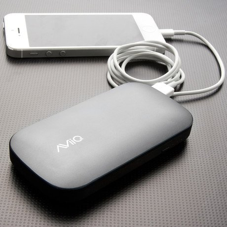 AViiQ Power Bank // 4,600mAh Dual USB // Grey