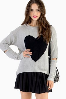 ACTING A HEART SWEATER 44