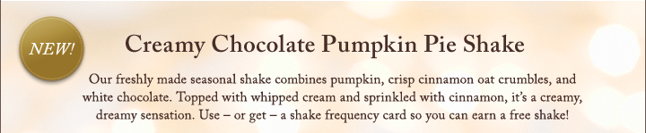Creamy Chocolate Pumpkin Pie Shake