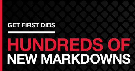 Get first dibs - Hundreds of new markdowns