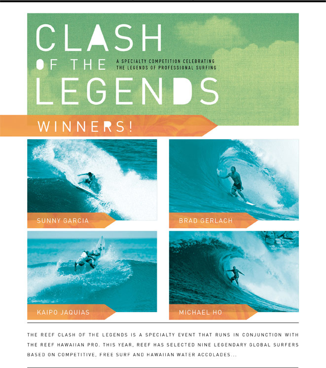 Clash of the Legends Winners
