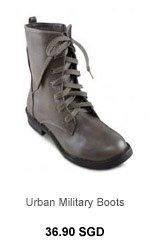 VELVET Urban Military Boots