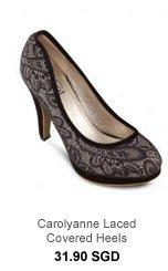 VELVET Carolyanne Laced Covered Heels