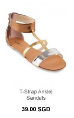 HEARTTHROB T-Strap Ankle Sandals