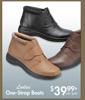 One-Strap Boots $39.99 per pair