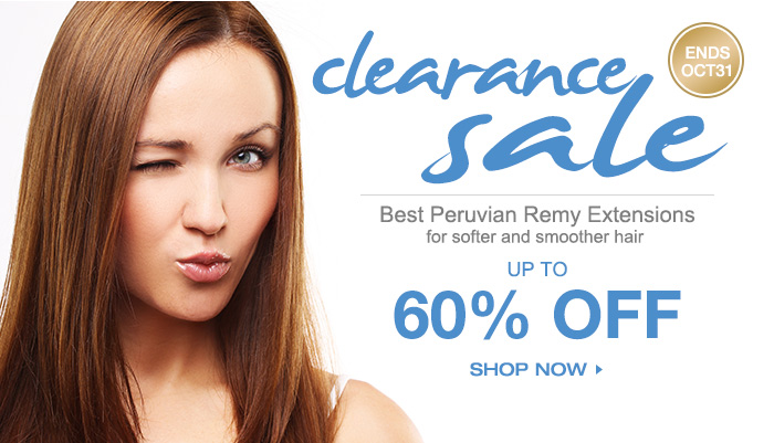 Clearance Sale Best Peruvian Remy Extensions For softer and smoother hairUP TO 60% OFF