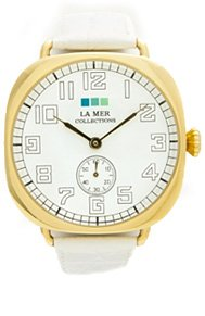 White-Gold Vintage Oversize Watch