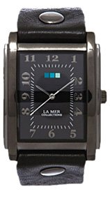 Gunmetal Black Square Oversize Watch