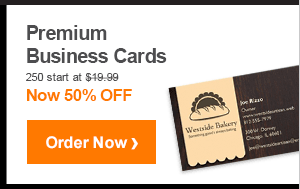 Premium Business Cards 250 start at $19.99 Now 50% OFF Order Now