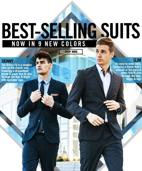 Shop Best-Selling Suits: 9 NEW Colors