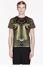 CHRISTOPHER KANE YELLOW BIG FACE T-shirt for men