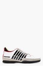 DSQUARED2 White Leather Vitello Sport Sneakers for men