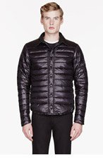 CANADA GOOSE Black quilted Beaconsfield Shirt jacket for men