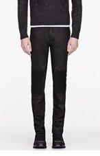 BELSTAFF BLACK coated cotton ROD jeans for men