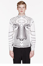 CHRISTOPHER KANE White Big Face Print shirt for men