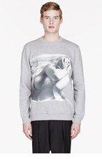 GIVENCHY Grey Bondage GIRL PRINT Sweatshirt for men