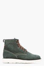 DIEMME Forest Green Suede Firenze Boots for men