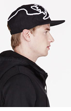 KTZ Black & white TATtOO TOWELING PATCHED CAP for men
