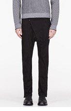 ALEXANDRE PLOKHOV Black twill angled-front trouser for men
