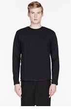 SASQUATCHFABRIX Black NORDIC QIULTING sweatshirt for men