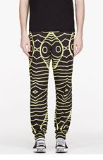 CHRISTOPHER KANE SSENSE EXCLUSIVE YELLOW TRAIN FACE Lounge PANTS for men