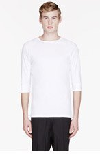 THE WHITE BRIEFS White organic cotton ANCHOVY t-shirt for men