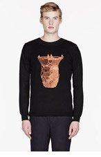 SASQUATCHFABRIX Black knit DOKI sweater for men
