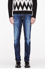 DSQUARED2 Blue faded & distressed SLIM JEANs for men