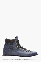 DIEMME Navy Brushed Leather Roccia Vet Boots for men