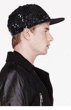 KTZ Black TATtOO BEADED Baseball CAP for men