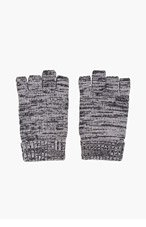 WINGS + HORNS Grey Marled Knit Smoker's Gloves for men